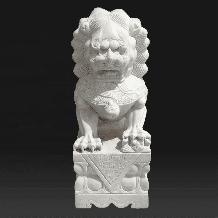Quality Inspection for Marble Jesus Statue - Chinese style white marble front door lion statue sculpture – Atisan Works