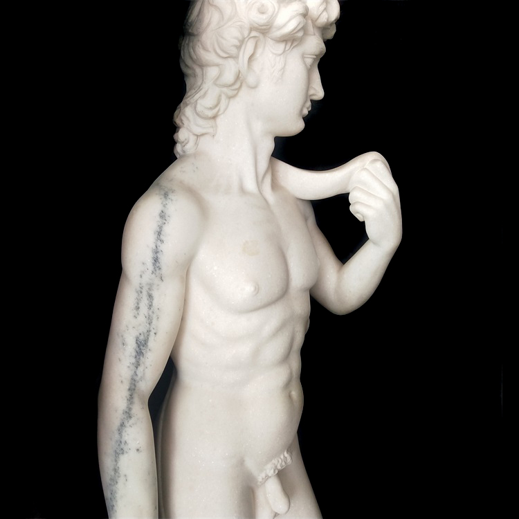 Western Classical Famous Life Size White Nude David Marble Sculpture For Sale