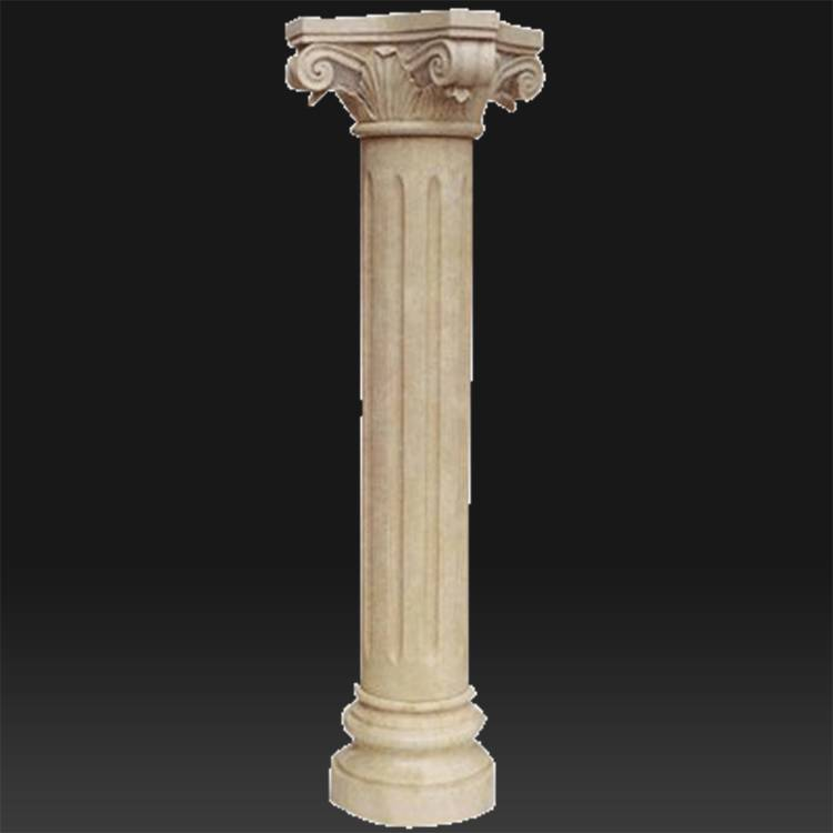 Front door carved greek roman sandstone gate pillars