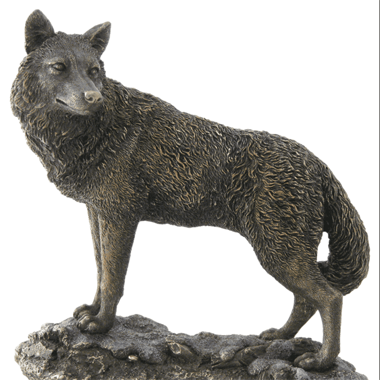 OEM China Diana Bronze Sculpture - Outdoor garden decoration life size bronze wolf animal sculpture for sale – Atisan Works