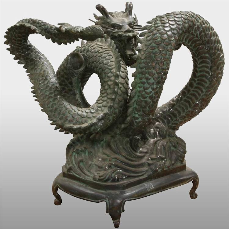 Leading Manufacturer for Bronze Buffalo Sculpture - Metal large bronze chinese dragon statue for sale – Atisan Works