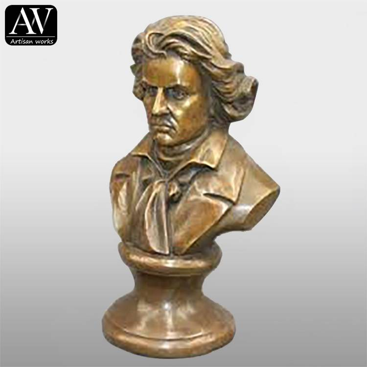 Factory For Thai Bronze Statues - Customized Promotional Bronze Painting Musician Brass Bust For Sale – Atisan Works