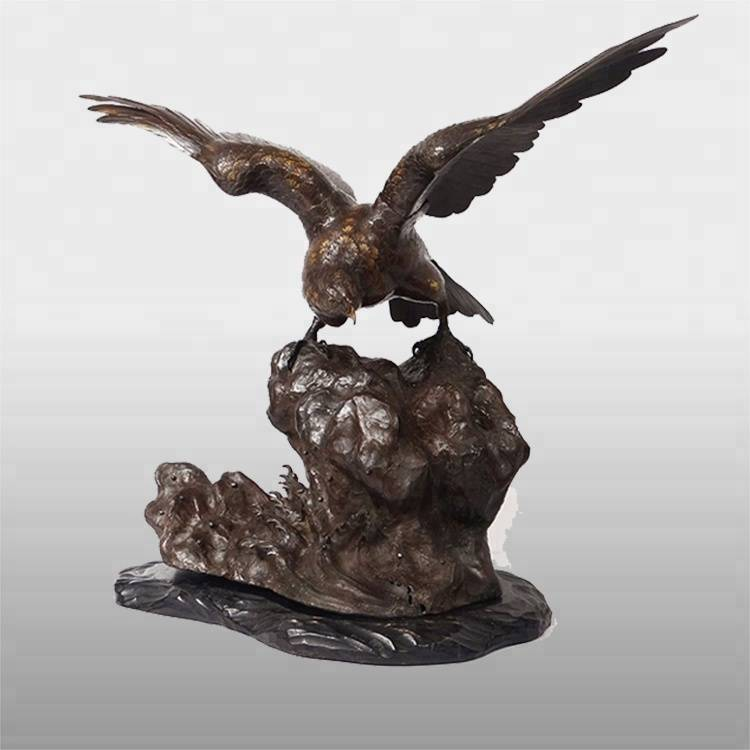 OEM Factory for Bronze Man Sculpture - Outdoor custom life size  decoration arge bronze or brass eagle statues for sale – Atisan Works