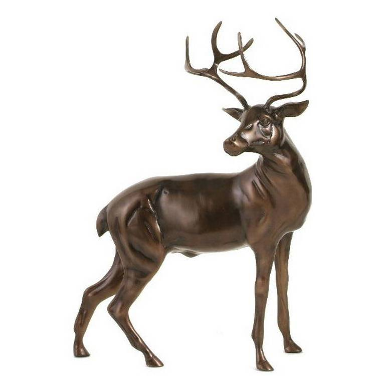 China OEM Cast Bronze Statue - Animal statue outdoor large decor modern  life size bronze and brass  deer statue – Atisan Works
