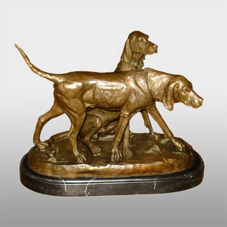 One of Hottest for Antique Bronze Sculptures - Bronze customized garden outdoor dog statue life size – Atisan Works
