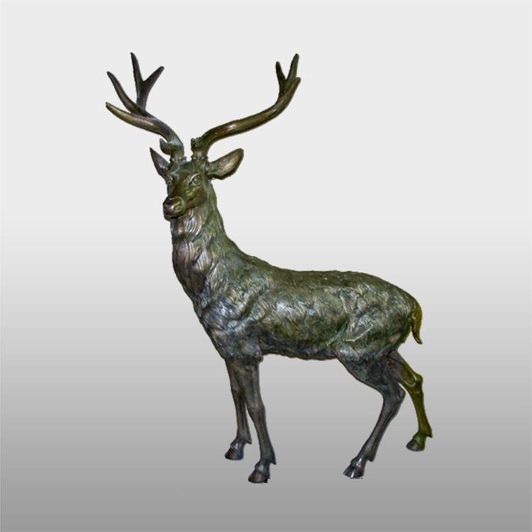 wholesale outdoor life size elk statue