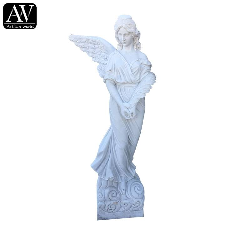 OEM Customized Veil Sculpture Marble - Life size garden large modern angel statue – Atisan Works