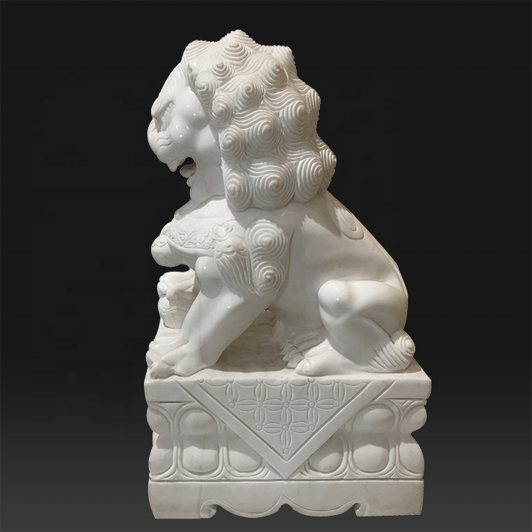 Factory selling Large Stone Lion Statues - Chinese style white stone marble lion statues for garden – Atisan Works