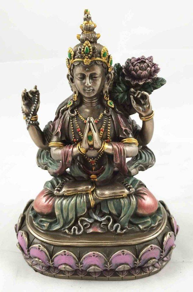 China Supplier Bronze Buffalo Statue - Religious craft casting life-size bronze gold sculpture female Buddha statue – Atisan Works
