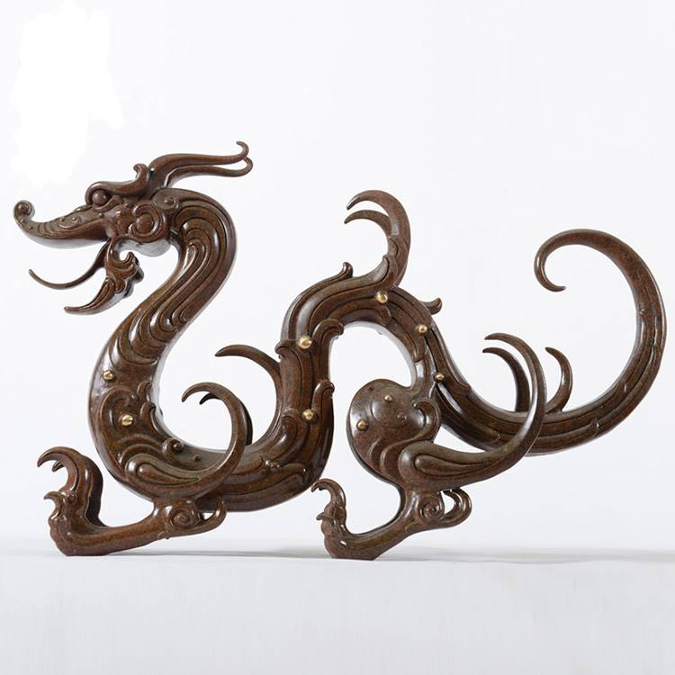 Best quality Bronze Motorcycle Sculpture - outdoor life size sculpture bronze chinese dragon garden statues – Atisan Works