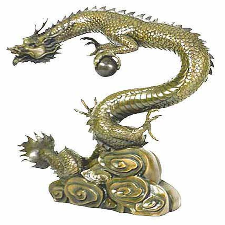 Cheapest Price Bronze Bird Sculpture - Animal statue outdoor large decor modern  bronze and brass  Chinese dragon statue for sale – Atisan Works