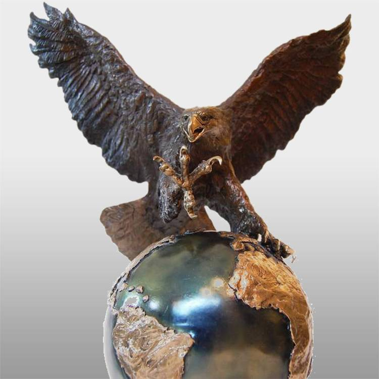Free sample for Hellenistic Bronze Sculpture - Garden decoration metal craft brass eagle statue – Atisan Works