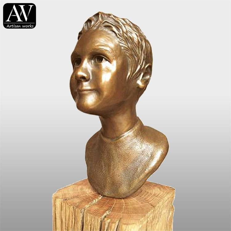 Factory wholesale Bronze Mermaid Statue - Outdoor garden decoration lady bust head statue sculpture – Atisan Works