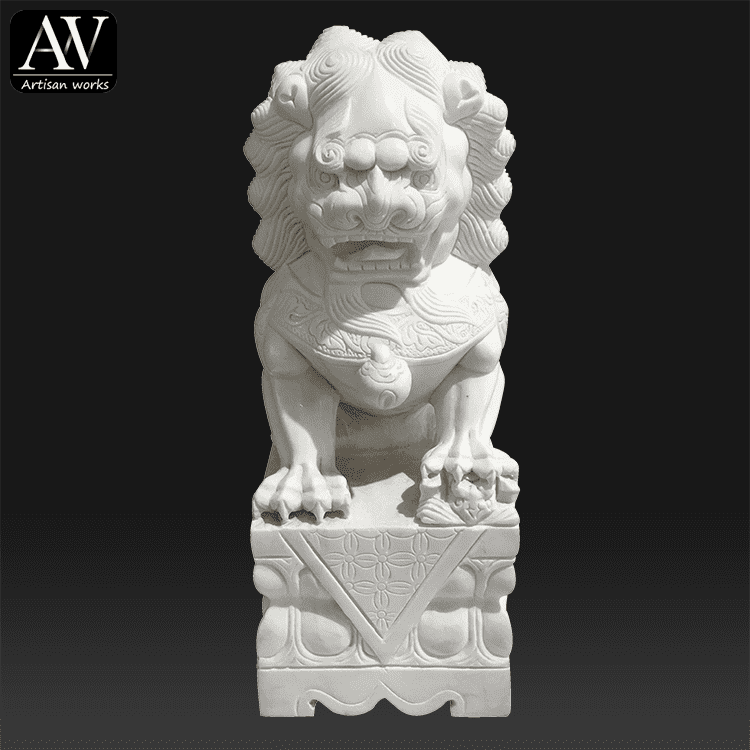 OEM/ODM China Stone Unicorn Statue - Western outdoor decoration life size garden lion statue mold – Atisan Works