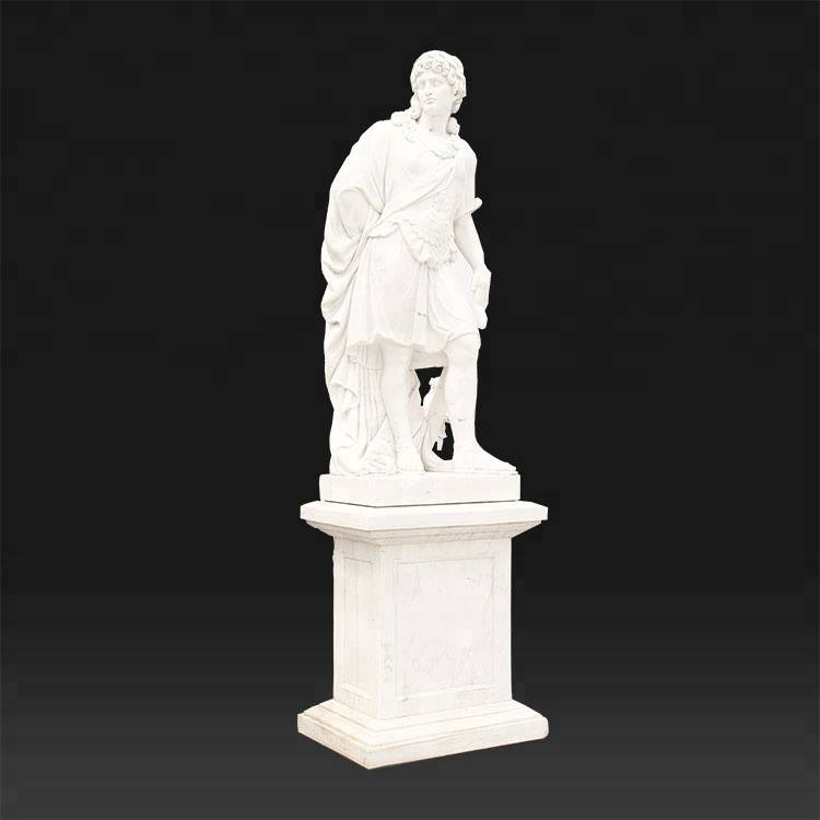 Greek roman garden marble man statue with marble bases