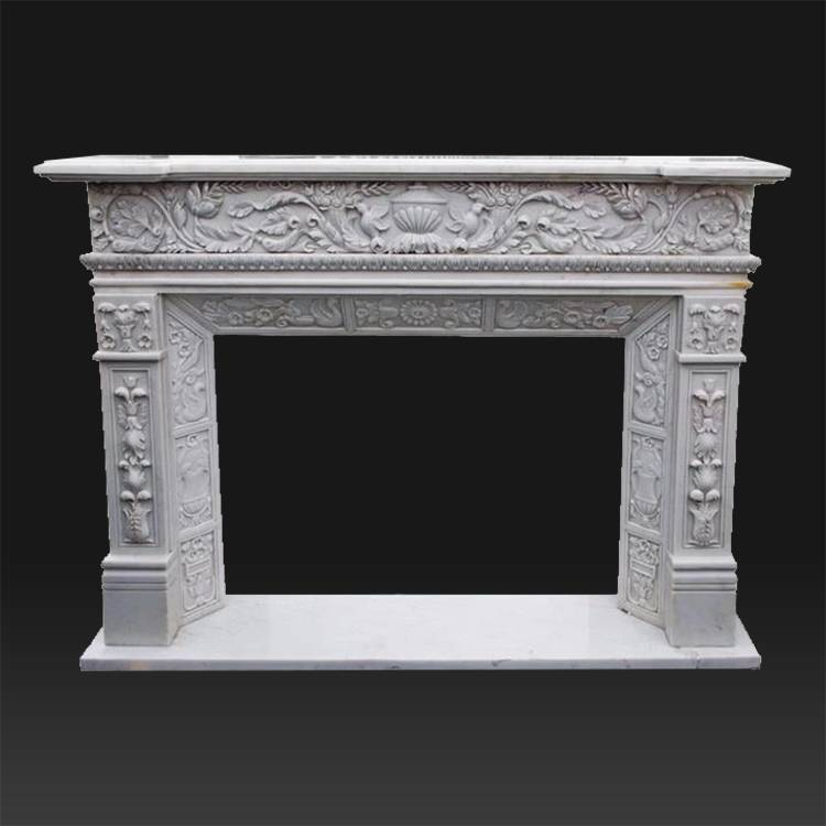 China Vintage Antique French Style Cantera Stone Fireproof Material Fireplace Mantels Factory And Manufacturers Atisan Works