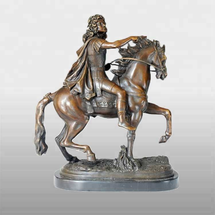 High Performance Famous Bronze Female Statues - hot sale antique persian warrior on horse statue for sale – Atisan Works