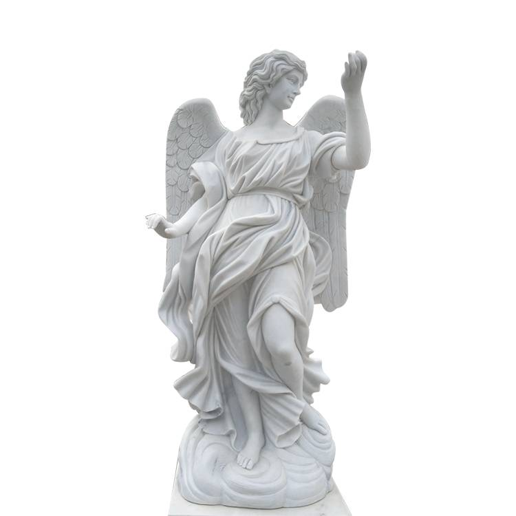 2018 Good Quality Famous Stone Face Statue - white stone angels statue concrete angel statues – Atisan Works