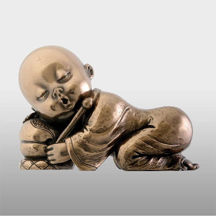Reasonable price Ancient Bronze Sculpture - Outdoor garden bronze brass monk buddha face statues – Atisan Works