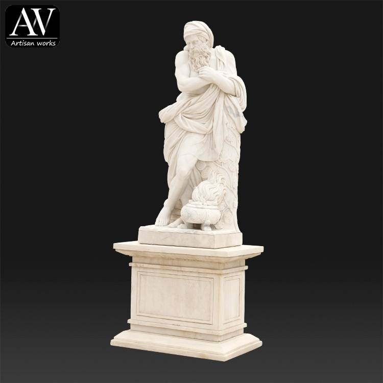 life size hand carved famous greek marble sculptures kneeling nude male statue