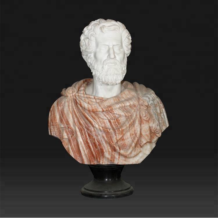Natural stone & greek decorative marble roman Aristotle bust sculpture