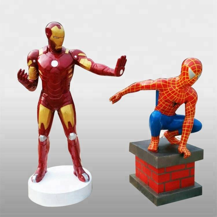 Life size superhero resin cartoon character fiberglass sculpture