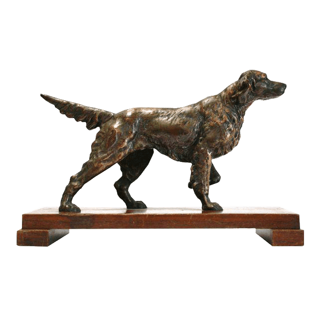 Well-designed Contemporary Bronze Sculpture - Decor metal crafts life size dog statues – Atisan Works
