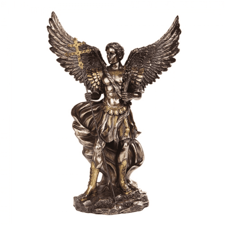 Metal figures sculpture outdoor decorative bronze and brass angel statue on sale