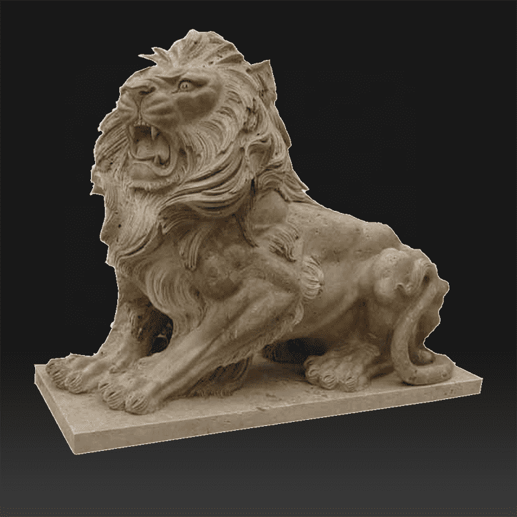 Custom modern decoration animal lion abstract marble sculpture