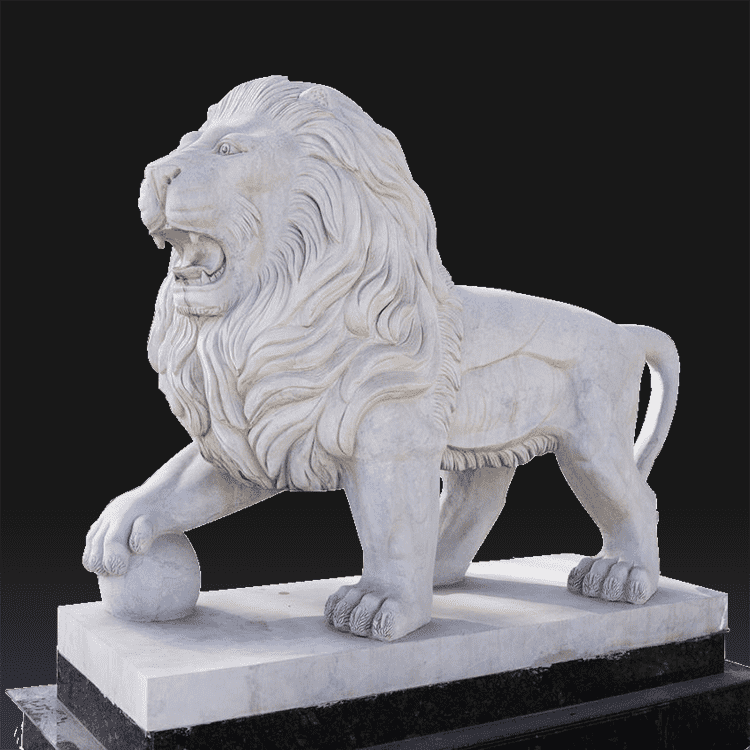 Rapid Delivery for Dark Angel Statue - Garden decorative hand carved front door small marble lion statues – Atisan Works