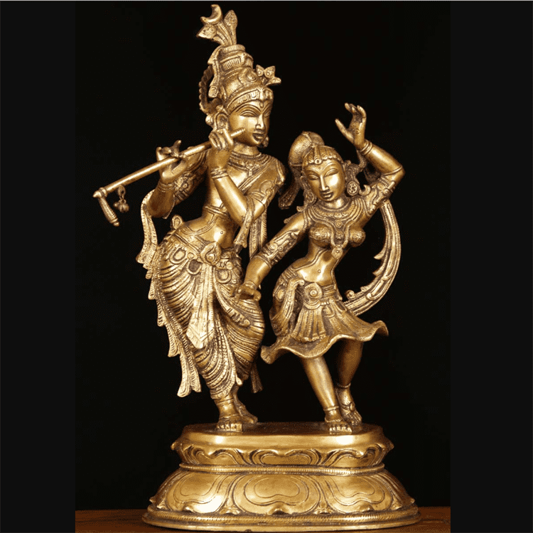 Special Design for Bronze Tree Sculpture - hot sale metal radha krishna statue and lord shiva statue – Atisan Works