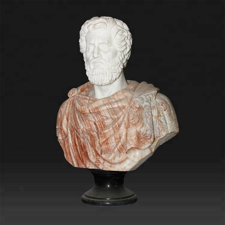 Best Price for Stone Relief Sculpture - Outdoor Garden Decoration Aristotle marble sculpture bust stands – Atisan Works