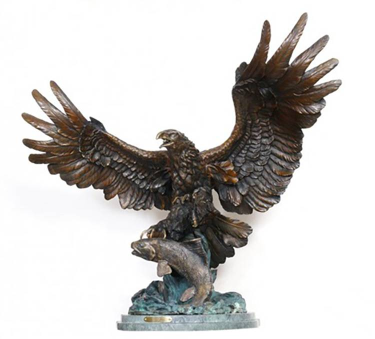 Manufacturer of Bronze Cowboy Statue - factory price outdoor life size animal bronze eagle statue – Atisan Works