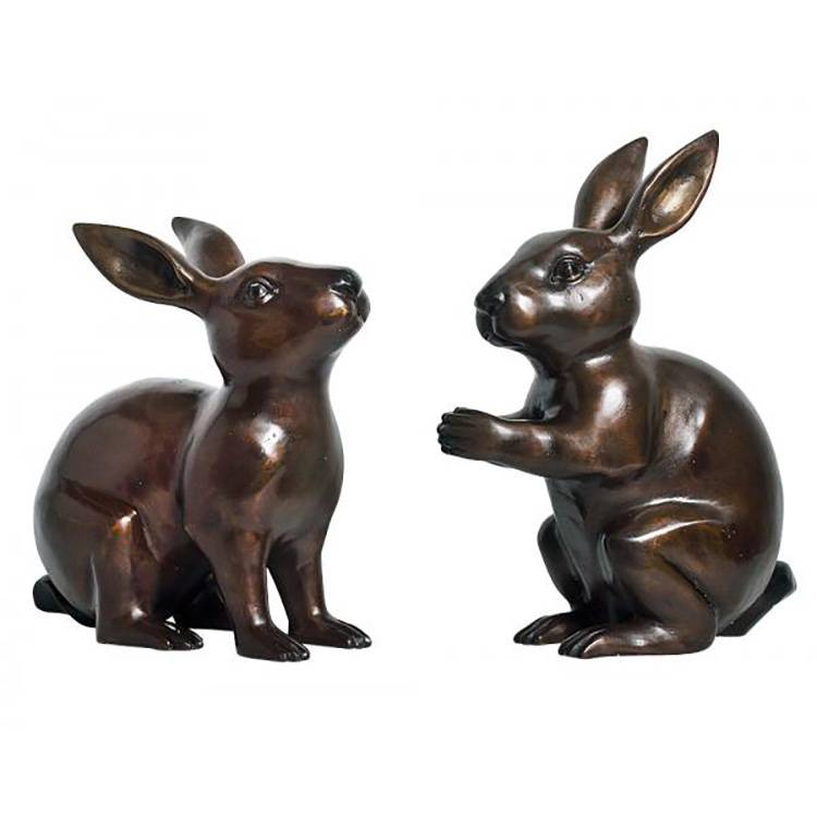 100% Original Factory Bronze Donkey Sculptures - Park decoration metal casting statue modern life-size bronze rabbit sculpture on sale – Atisan Works