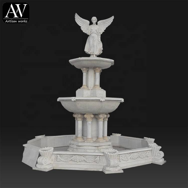 New design wholesale garden outdoor stone fountains water