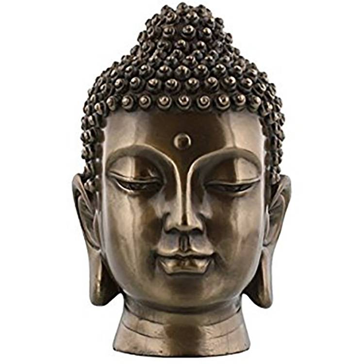 Factory best selling Art Nouveau Bronze Sculpture - Hot Sale Decoration Bronze Buddha Head – Atisan Works
