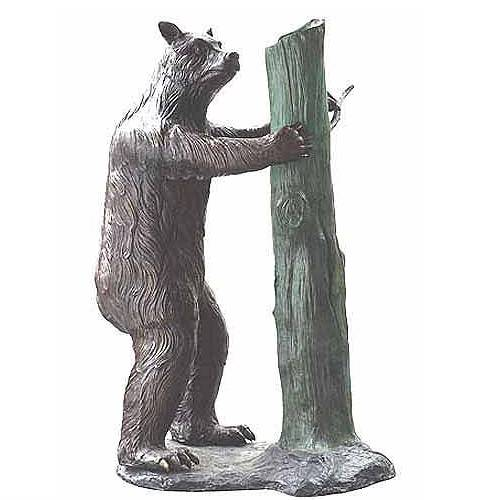 factory customized Roman Bronze Sculpture - Artificial plush life size mental bronze  bear bench statue for garden and park decoration – Atisan Works