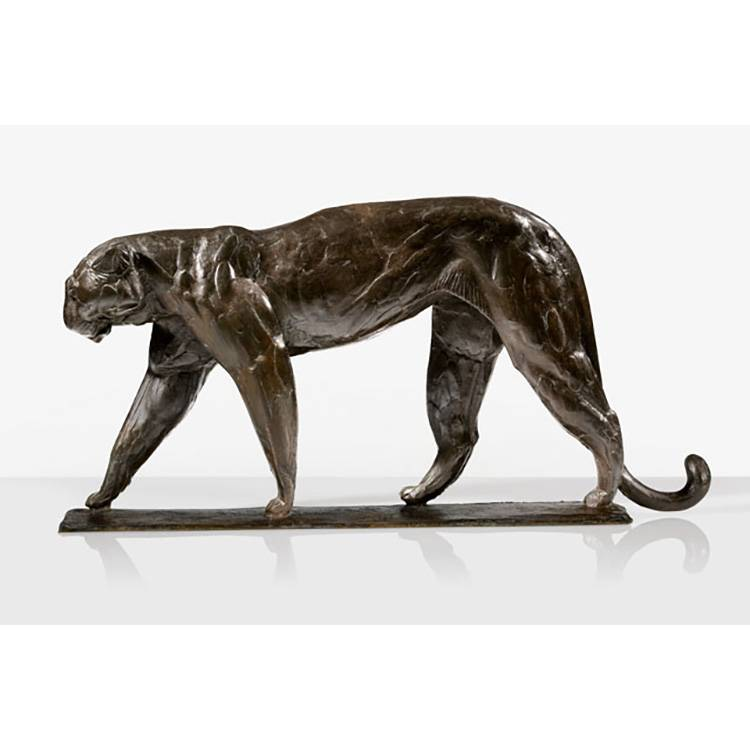 Factory made hot-sale Large Bronze Horse Statue - Bronze leopard ornament animal bronze body sculpture of snow leopard statue – Atisan Works