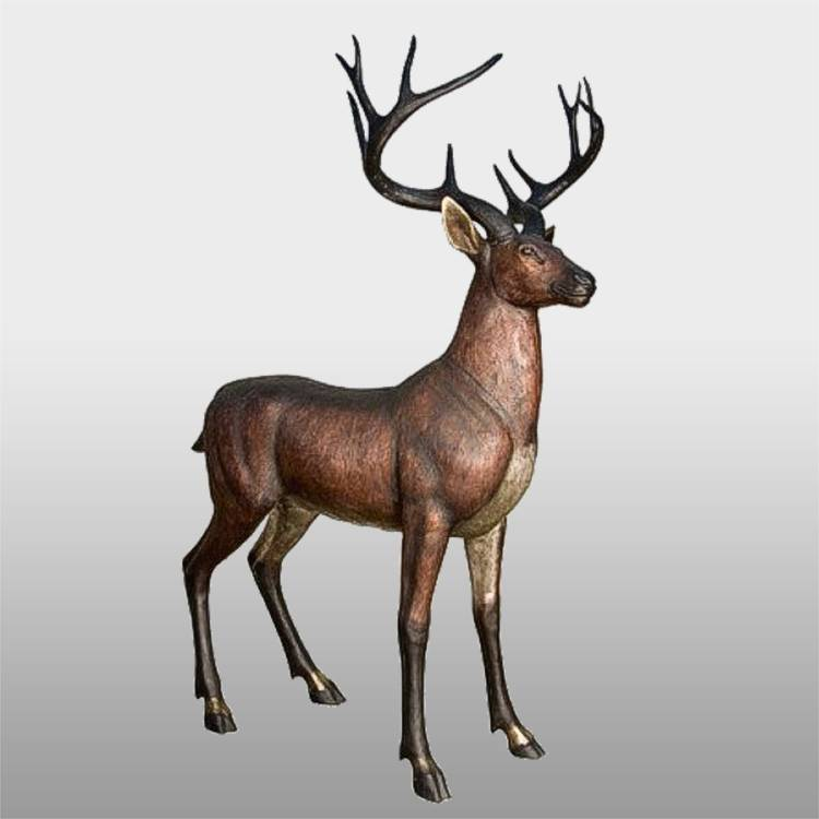 Manufacturer for Brass Statue - Factory supply sculpture decor animal brass deer statues – Atisan Works