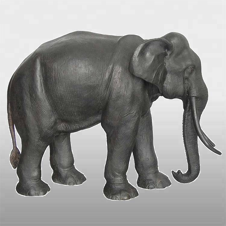 Cheapest Price Bronze Bird Sculpture - Hot sale life size garden brass outdoor elephant statue – Atisan Works