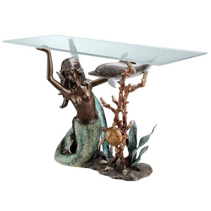 factory price modern woman sintered bronze sculpture coffee table