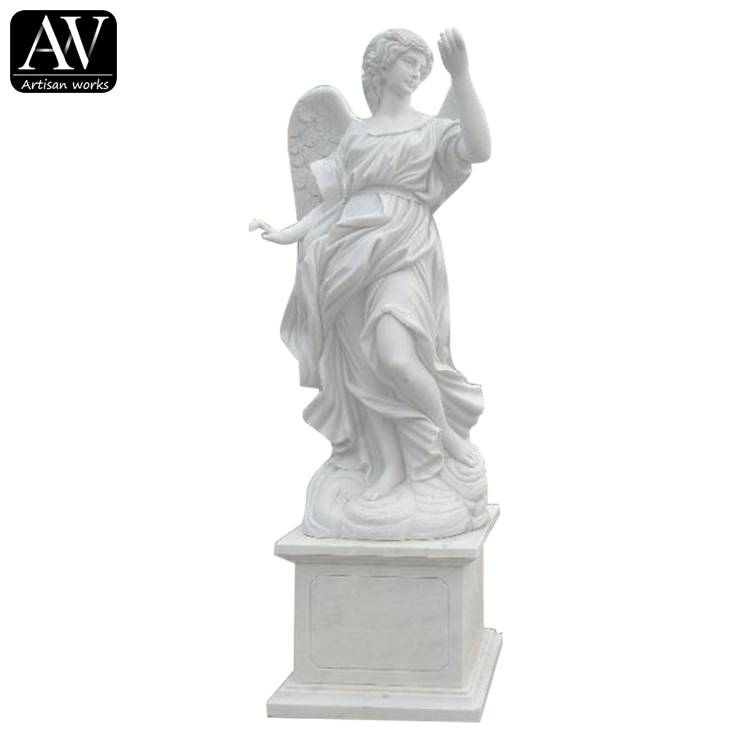 One of Hottest for Stone Lion Sculpture - Customized garden marble carving angel statue – Atisan Works