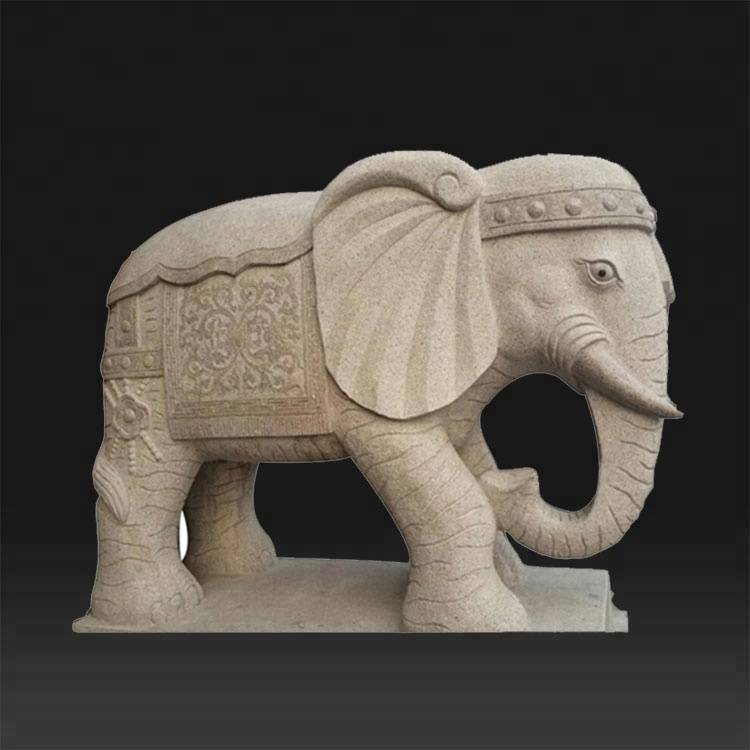 Best Price on Modern Figure Sculpture - Indian outdoor white marble elephant statue for sale – Atisan Works