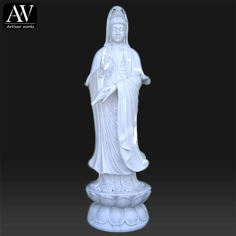 Fast delivery Life Size Statue - Hand Carved Outdoor Decorative Large Granite Buddha Lady Statue – Atisan Works