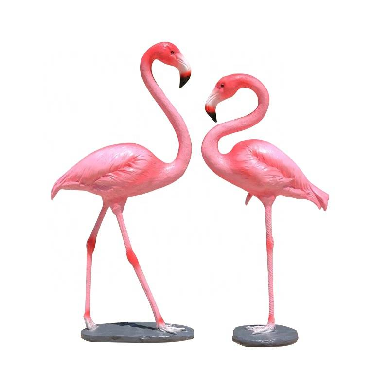 Cheapest Price Giant Fiberglass Statues - Custom garden life size animals fiberglass flamingo statue for sale – Atisan Works