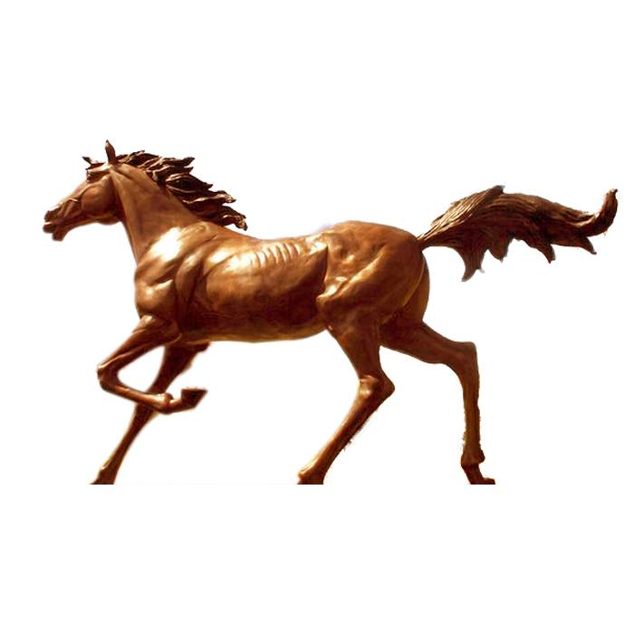 Outdoor Garden sculpture cast Large Bronze running Horse Statue