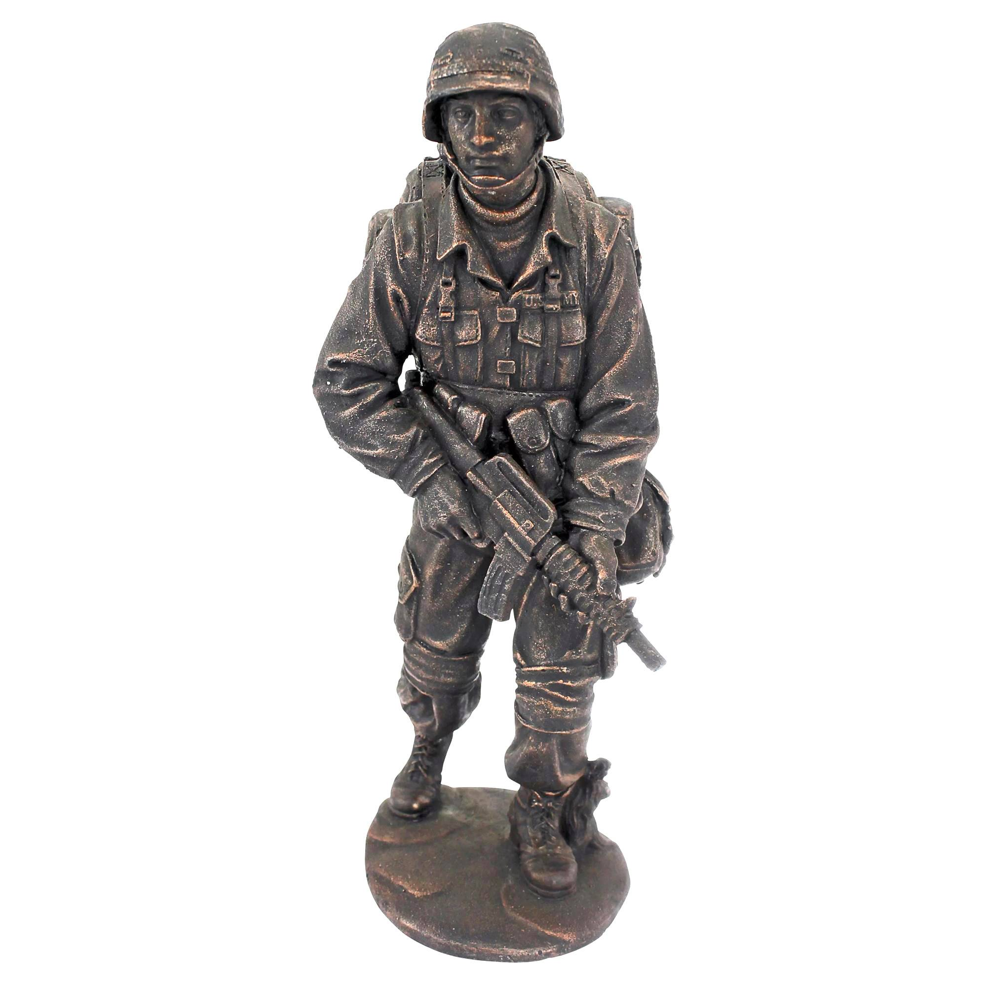 Online Exporter Milo Bronze Sculpture - Park decoration casting metal sculpture bronze life size soldier statue – Atisan Works