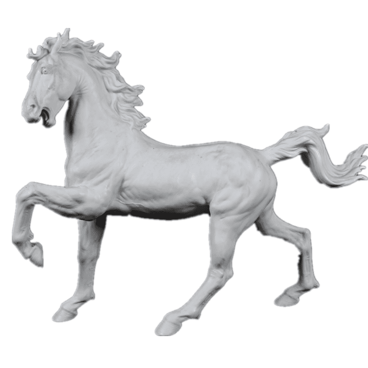 Cheapest Factory Dragonstone Statues - Outdoor hand carved white marble animal sculpture stone horse garden statues – Atisan Works