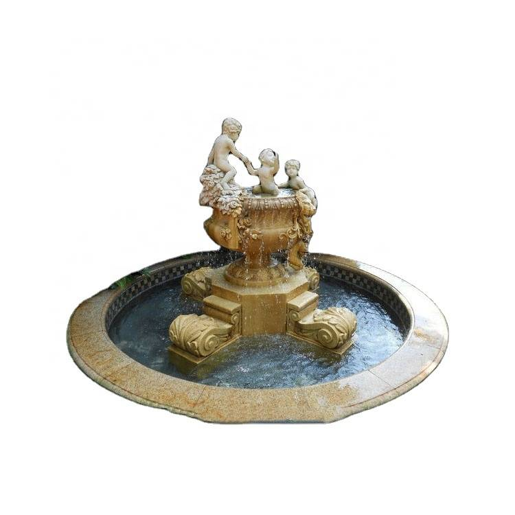 Good Quality Fountain – Hot sale decor granite pagoda garden water fountain with pots – Atisan Works
