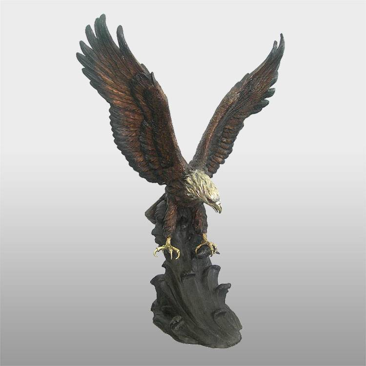 18 Years Factory Bronze Bear Sculpture - Home decoration sculpture metal crafts bronze eagle statue – Atisan Works